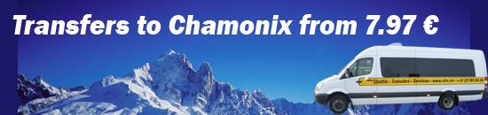 Transfers to Chamonix from 15 euro